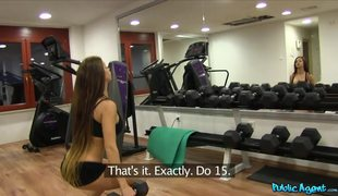 Gym Babe With Long Hair And Perfect Body Claire Quela Has Some Fun