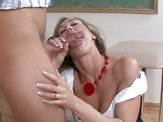 Sexy Hot Teacher Brandi Love Gets Her Mouth Attcked By A Young Meaty Pole