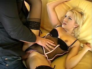 Naughty Blonde Girl Screws Hard Hard-On