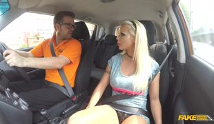 Hot Blonde With Fake Boobs Barbie Sins Fucked In FDS Car